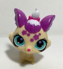 Littlest Pet Shop #3001 Cream-Purple Yorkie Dog, Blue Eyes.