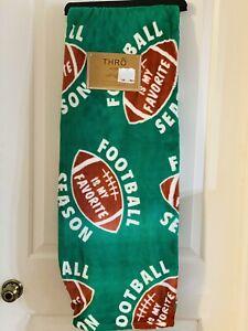 Football Decor Season throw blanket Plush NWT50x70 *** Compliments Rae Dunn ***