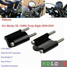 """2"""" Rise 1"""" Handle Bar Riser Extension Kit for Harley XL 1200X Forty-Eight 10-18"""