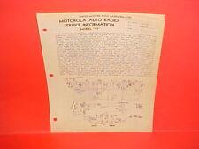 1933 MOTOROLA CAR AUTO RADIO SERVICE MANUAL MODEL 77 FORD CHEVROLET CHRYSLER
