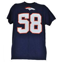 NFL Denver Broncos Von Miller #58 Crew Neck Men Tshirt Tee Short Sleeve Navy