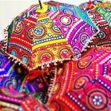 5 Pc Lot Decorative Indian Hand Embroidered Parasol Vintage Sun Shade Umbrella