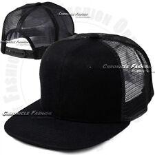 Trucker Hat Mesh Baseball Snapback Cap Adjustable Flat Plain Blank Hip Hop Mens