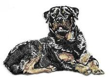 """2 3/8"""" x 3 1/4"""" Prone Rottweiler Dog Breed Embroidery Patch"""