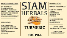 1000 PILL Organic Turmeric & Black Pepper 2500mg Curcumin Curcuma Longa Natural