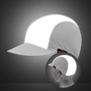 Reflective Cycling Caps Breathable Elastic Hat Bike Riding Hiking Running Night
