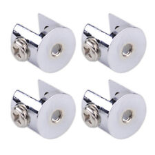 4x Adjustable Alloy Brackets Holder Support Clip Clamp for 5-8mm Glass or Wood