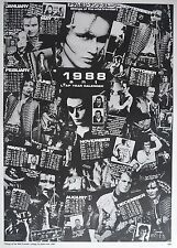 Adam Ant Autographed Official d Fan club poster Calendar Designed by Adam Ant