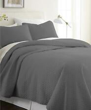 ienjoy Home Premium Ultra Soft Herring 3 Piece Queen Coverlet Set Grey $150