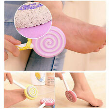 Hard Skin Callus Remover Scrub Pumice Stone Lollipop Foot File Scraper Scrubber~