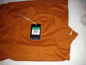 New Ladies Nike Golf Dri-Fit Polo Shirt Burnt Orange, LRG,   white swoosh