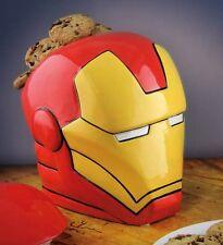 Avengers IRON MAN Helmet COOKIE JAR Ceramic Biscuit Storage Container