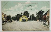 Westminster Md West Main St and Pennsylvania Ave Dirt Forked Rd Postcard O9