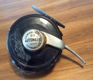 Vintage Ocean City # 90 Automatic Fly Fishing Reel Philadelphia USA With Line
