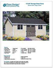 12' x 20' Garden / Utility / Storage Shed Plans, Material List , Design #D1220G