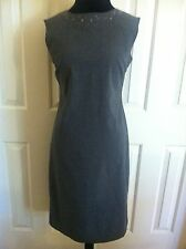 Gap Women's Gray Sleeveless Knee-Length Pencil Career Dress Size 6 defoors16