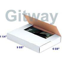 "50 - 9 5/8 x 6 5/8 x 1 1/4"" Multi Depth Cardboard Book Mailer Shipping Box Boxes"