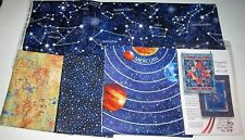 COSMIC GLOW in the DARK QUILT KIT with 100% Cotton Fabric PLANETS STARS