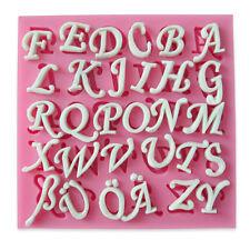 moule silicone lettres pour pâte à sucre fondant gâteau pâtisserie #921