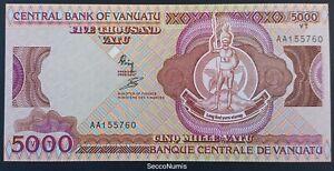 VANUATU . 5000 Vatu 1989 P#4  UNC