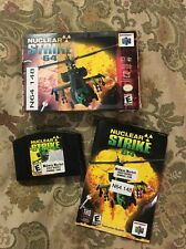 Nuclear Strike 64 (Nintendo 64, 1999) Complete In Box Tested !!