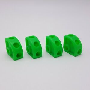 Tinkertoy 4 Green Wedges Replacement Parts Pieces Plastic Tinker Toy