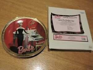 1994 Barbie Mattel Limited Addition Plate #114383 Includes Box and certificate