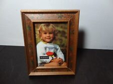 Burnes of Boston Wood 3 x 5 Photo/Picture Frame with Colorful Floral Design