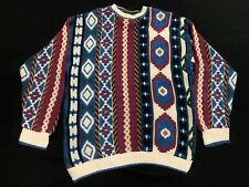 Vintage Chaps Ralph Lauren Nordic Aztec Sailor Sweater Size Medium Made In USA