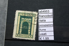 FRANCOBOLLI ITALIA OCCUPAZIONE FIUME USATI (A64953)