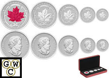 2015 Incuse Fractional Set 5 Silver Maple Leaf Coin Set Fine Silver(14077) OOAK