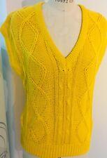Vintage Society Mills Women's Sleeveless Sweater  L Made in Korea NWT
