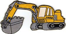 Aufnäher Bügelbild Iron on Patches Bagger Baustelle Kinder (a1z1)