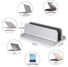 Aluminum Vertical Laptop Stand - Compact Size - Color: Silver, Grey or Black