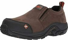 MERRELL Jungle Moc Slip-on Composite Toe Leather Work Loafer Shoes- Men's 11 NEW