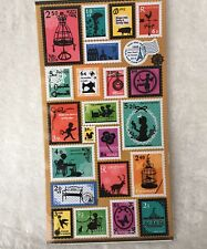 Travel Stamps Paper stickers funny Scrapbook diary Cardmaking art Holiday