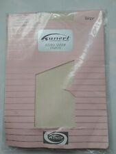 Kunert ultra sheer plain knit lace brief Blond nylon tights. Size Large.