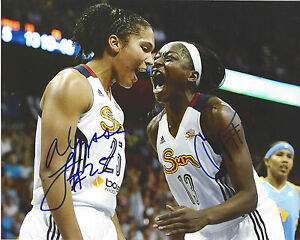 CHINEY OGWUMIKE Connecticut Sun ALYSSA THOMAS Signed 8 x 10 WNBA Photo FREE SHIP