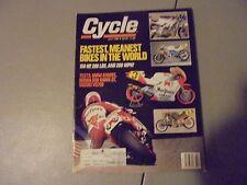 july 1988 cycle magazine,bmw r100rs,honda 650 hawk gt,suzuki vs750,FASTEST BIKES