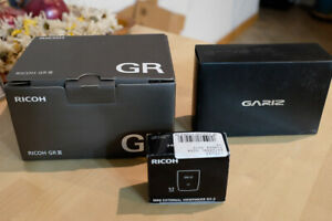 Ricoh GR Digital lll Perfect with Gariz Case and Official Finder, All Boxes NR