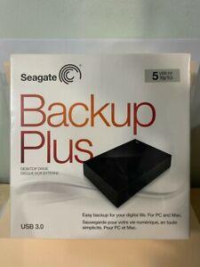 Seagate Backup Plus 5TB Desktop External Hard Drive USB 3.0_New