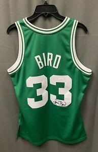 Larry Bird #33 Signed Celtics Jersey Autograph Sz M JSA WITNESSED COA HOF AUTO