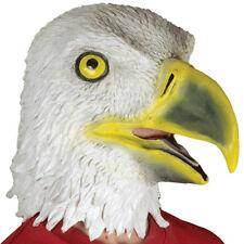 ADULT LATEX AMERICAN BALD EAGLE MASK FALCON BIRD ZOO ANIMAL COSTUME RUBBER MASK