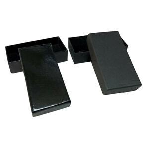 Small Black Cufflink Gift Boxes Jewellery Storage Box UK