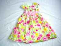 Gymboree 10 Floral Flower Easter Pink White Green Yellow Flare Dress