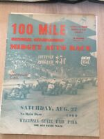 1960 Wisconsin State Fair Park Midget Program Car Race Eddington PA Driver