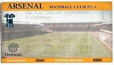 Arsenal Football League Fixture Tickets & Stubs (1992-2004)