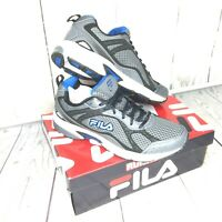 FILA Mens Windshift Gray Blue Run ShoesAthletic Jog Running Wide Dad Gift