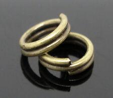 1000 Anneaux Double Ouverts Couleur Bronze 5mm Dia.