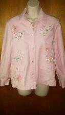 Alfred Dunner women's petite jacket size 8 pink EUC